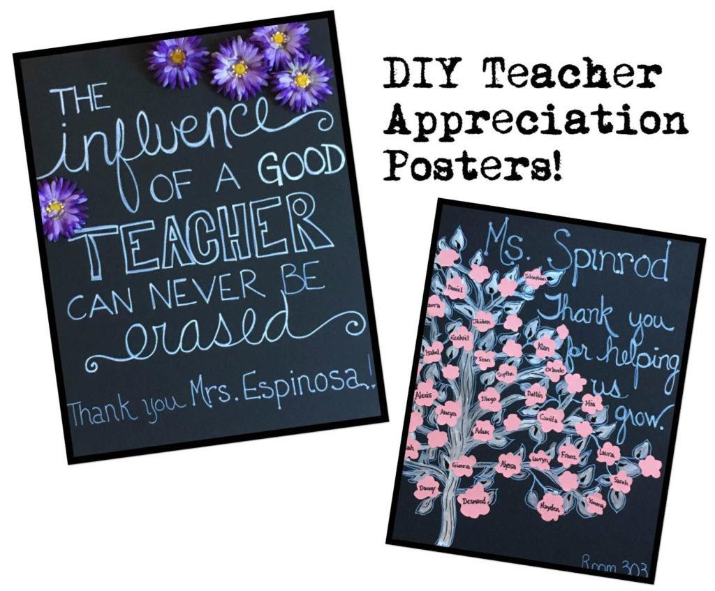 DIY Teacher Appreciation Poster Ideas - Caffeine & Grace