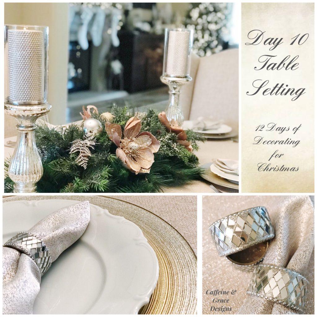 Christmas centerpiece table
